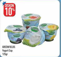 Promo Harga GREENFIELDS Yogurt 125 gr - Hypermart