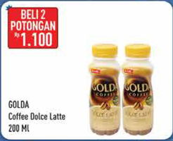 Promo Harga GOLDA Coffee Drink Dolce Latte per 2 botol 200 ml - Hypermart
