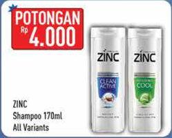 Promo Harga ZINC Shampoo All Variants 170 ml - Hypermart
