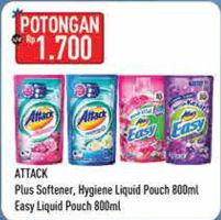 Promo Harga ATTACK ATTACK Detergent Liquid/Easy Detergent Liquid  - Hypermart