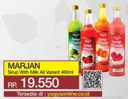 Promo Harga MARJAN Syrup with Milk All Variants 460 ml - Yogya