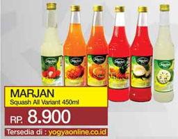 Promo Harga MARJAN Syrup Squash All Variants 450 ml - Yogya