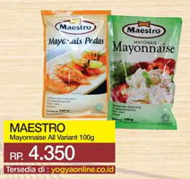 Promo Harga MAESTRO Mayonnaise All Variants 100 gr - Yogya