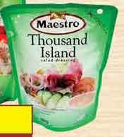 Promo Harga MAESTRO Salad Dressing Thousand Island 180 gr - Yogya