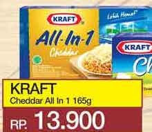 Promo Harga KRAFT All in 1 Cheddar 165 gr - Yogya