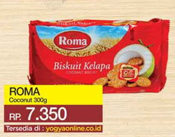 Promo Harga ROMA Coconut Biscuit 300 gr - Yogya