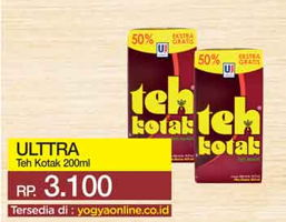 Promo Harga ULTRA Teh Kotak 200 ml - Yogya