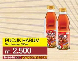 Promo Harga TEH PUCUK HARUM Minuman Teh Less Sugar 250 ml - Yogya