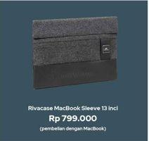 Promo Harga MacBook Sleeve Rivacase 13 Inci  - iBox