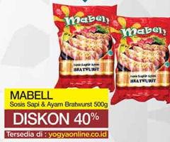 Promo Harga MABELL MABELL Sosis Sapi/Ayam  - Yogya