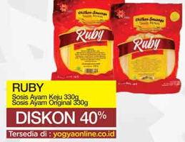 Promo Harga RUBY Sosis  Ayam Keju, Original 330 gr - Yogya