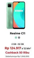 Promo Harga REALME C11 Mint Green 2GB/32GB, Pepper Grey 2GB/32GB  - Erafone