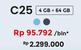 Promo Harga REALME C25 Water Blue 64GB, Water Grey 64GB  - Erafone