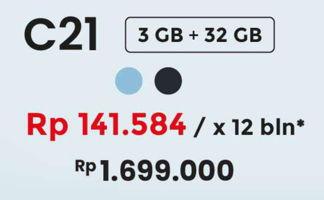 Promo Harga REALME C21 Cross Black 3GB/32GB, Cross Blue 3GB/32GB  - Erafone