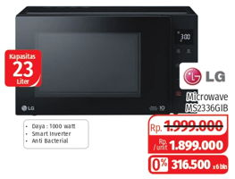 Promo Harga LG MS2336GIB Microwave  - Lotte Grosir