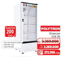 Promo Harga POLYTRON SCN 181L | Showcase Fastcool 180ltr  - Lotte Grosir