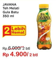 Promo Harga JAVANA Teh Gula & Batu Melati per 2 botol 350 ml - Indomaret