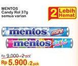 Promo Harga MENTOS Candy All Variants per 2 roll 37 gr - Indomaret