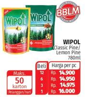Promo Harga WIPOL Karbol Wangi Classic Pine, Lemon 780 ml - Lotte Grosir