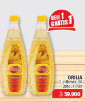 Promo Harga ORILIA Sunflower Oil 1000 ml - Lotte Grosir