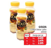 Promo Harga GOLDA Coffee Drink Dolce Latte 200 ml - Lotte Grosir