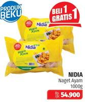 Promo Harga NIDIA Chicken Nugget 1 kg - Lotte Grosir