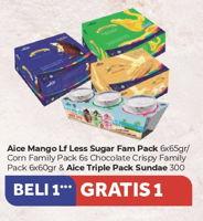 Promo Harga AICE Ice Cream Mango Slush Low Fat Less Sugar, Chocolate Crispy 6 pcs - Carrefour