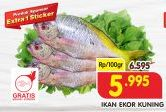 Promo Harga Ikan Ekor Kuning per 100 gr - Superindo