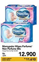 Promo Harga MAMY POKO Baby Wipes Perfumed, Non Perfumed 80 pcs - Carrefour