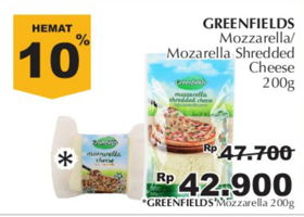 Promo Harga GREENFIELDS Greenfields Mozzarella Cheese/Shredded Cheese  - Giant