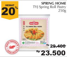 TYJ Spring Roll Pastry 250 gr Diskon 20%, Harga Promo Rp23.500, Harga Normal Rp29.400, Giant Ekstra,Giant Ekspres