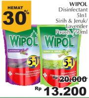 Promo Harga WIPOL Karbol Wangi Sereh Jeruk, Lavender 750 ml - Giant