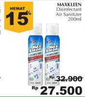 Promo Harga MAX KLEEN Disinfectant Spray 200 ml - Giant