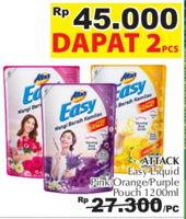 ATTACK Easy Detergent Liquid 1200 ml Diskon 18%, Harga Promo Rp45.000, Harga Normal Rp54.600, Giant Ekstra,Giant Ekspres