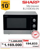 Promo Harga SHARP R-21DO | Microwave  - Giant