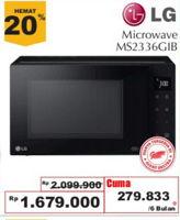 LG MS2336GIB Microwave  Diskon 20%, Harga Promo Rp1.679.000, Harga Normal Rp2.099.000, Cicilan Rp. 279.833/6 bln, Giant Ekstra,Giant Ekspres