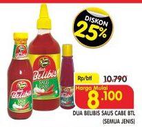 Promo Harga DUA BELIBIS Saus Cabe All Variants  - Superindo