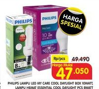 Promo Harga PHILIPS LED Daylight/ Mycare  - Superindo