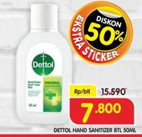 Promo Harga DETTOL Hand Sanitizer 50 ml - Superindo