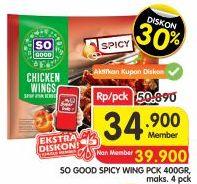 Promo Harga SO GOOD Spicy Wing 400 gr - Superindo