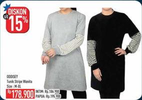 Promo Harga ODDISEY Tunik Wanita Stripe  - Hypermart
