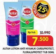 Promo Harga AUTAN Lotion Anti Nyamuk Care Protect, Floral Protect 50 ml - Superindo
