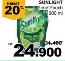 Promo Harga SUNLIGHT Pencuci Piring Jeruk Nipis 100 1600 ml - Giant