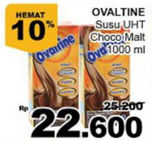 Promo Harga OVALTINE Susu UHT 1000 ml - Giant