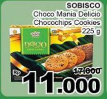 Promo Harga CHOCO MANIA Choco Mania Delicio Classic Cookies 225 gr - Giant