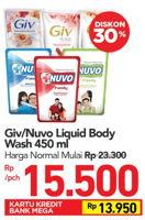 Promo Harga GIV GIV/NUVO Body Wash  - Carrefour