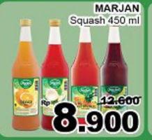 Promo Harga MARJAN Syrup Squash 450 ml - Giant