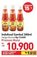 Promo Harga INDOFOOD Sambal 340 ml - Carrefour
