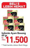 Promo Harga INDOMIE Mi Kuah Ayam Bawang per 5 pcs 69 gr - Carrefour