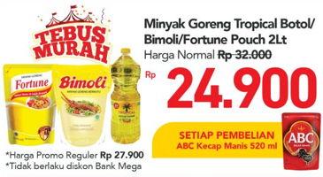 Promo Harga TROPICAL Tropical/Bimoli/Fortune Minyak Goreng  - Carrefour